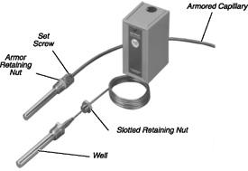 Allen Bradley 837-N2 3-1/2 Inch Brass Direct Immersion Thermostat Well