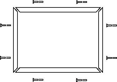 AB 440F-T1010 Trim Kit - StandardTrim, 500mm x 500mm