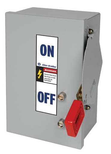 1494H Heavy Duty Safety Switch, 100A 600V AC Non-Fusible Disconnect Switch, Type 12 Dust-Tight Painted Metal Enclosure, Door Screw Fasteners
