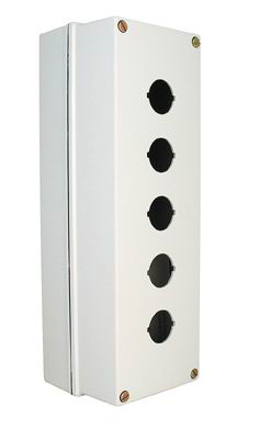 800F Enclosures, 5 Hole Enclosure, Metal, With base Mount Adapter, Knockout Type- Metric