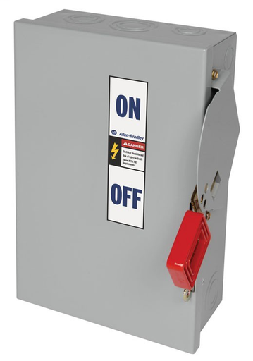 1494H Heavy Duty Safety Switch, 30A 600V AC Non-Fusible Disconnect Switch, Type 1 General Purpose Painted Metal Enclosure, Door Latch