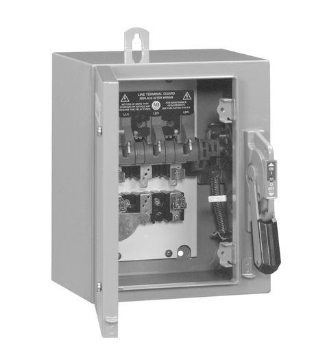 1494G Enclosed Disconnect Switches, 30A, Type 3R/4/12 - Enclosure Code F, 3 pole, three phase, Class H fuse clips, 600VAC