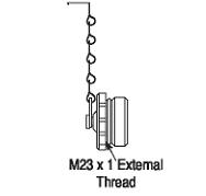 Allen Bradley 889A-MMCAP M23 Nickel Plated Brass Sealing Cap