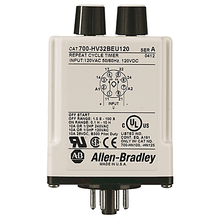Allen-Bradley 700-HV32AAU24 Repeat Cycle Timing Relay