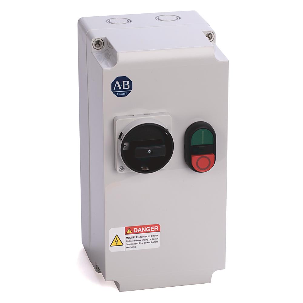 Allen-Bradley 103C-09LD-CB40X-1M Enclosed Starter, 2.5 - 4 A, 110V 50Hz / 120V 60Hz Control Voltage, Start-Stop (Multi-Function Button)