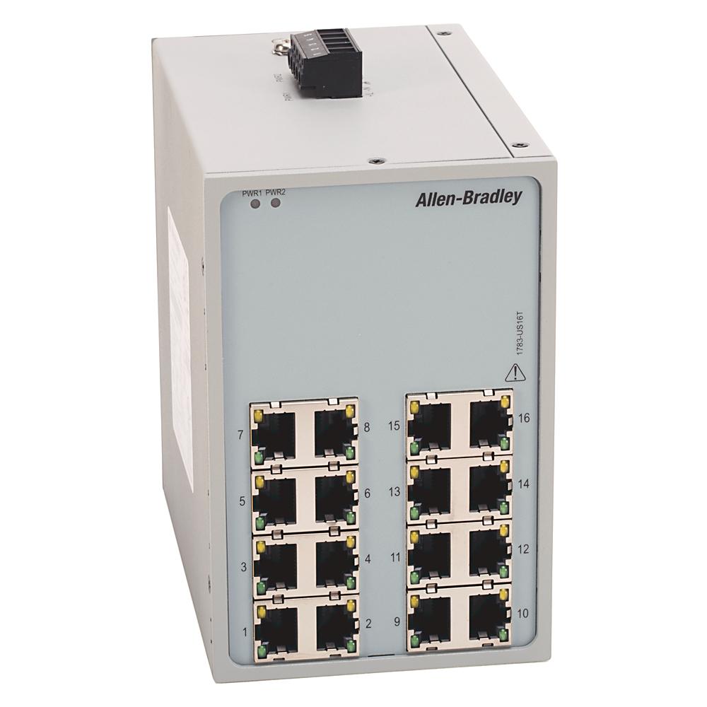 AB 1783-US16T Stratix 2000Unmanaged Switch, 16 Copper 10/100Ports