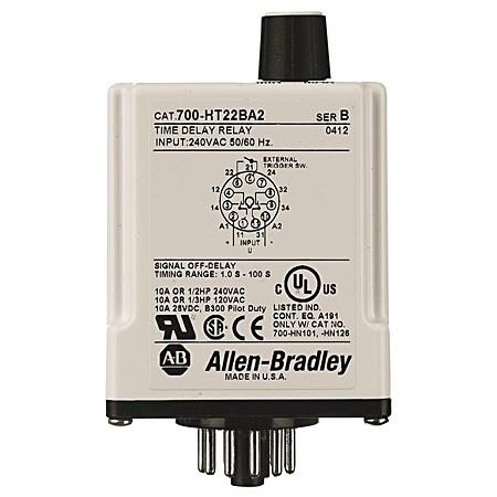 Allen-Bradley 700-HT12CU120 Tube Base Timing Relay