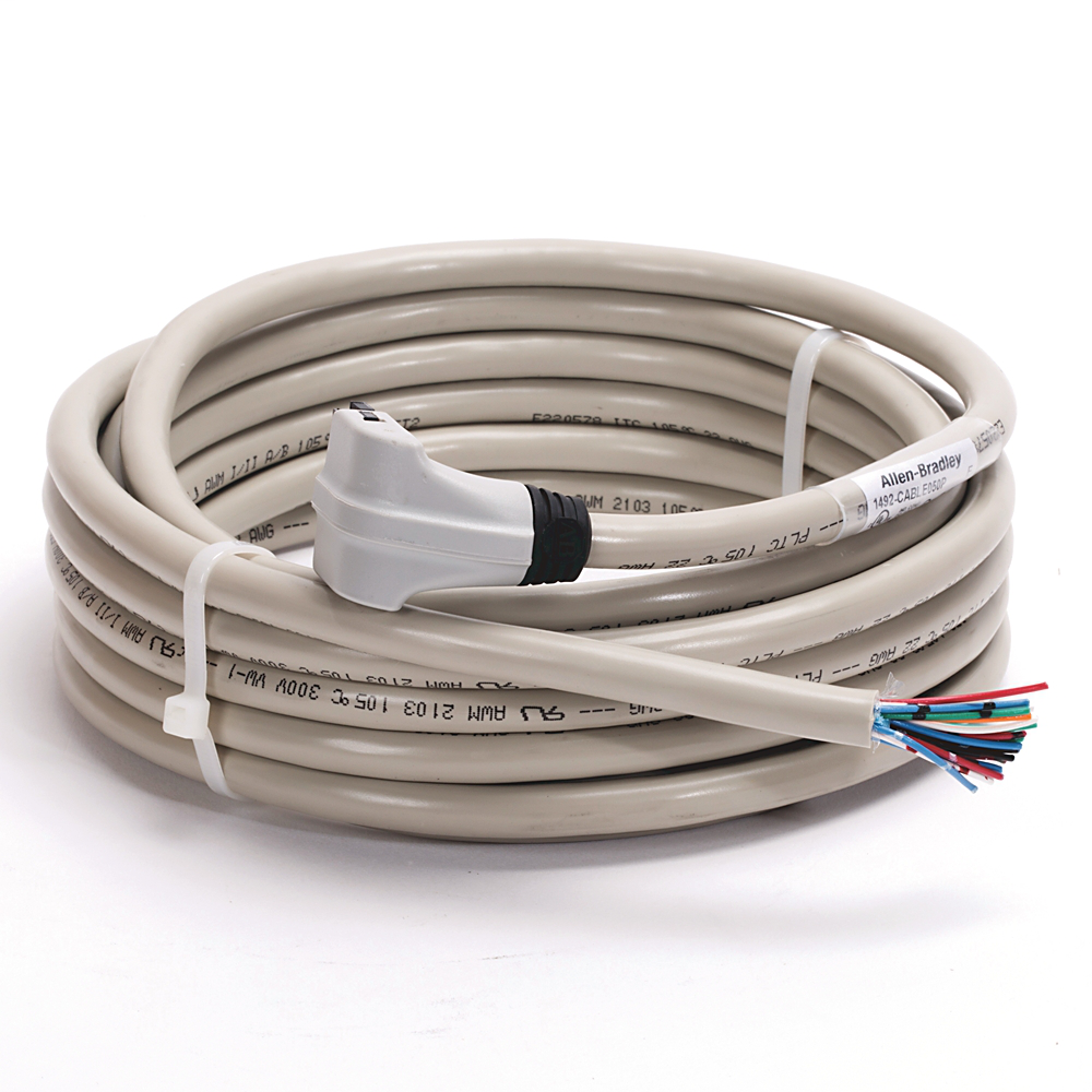 Allen-Bradley 1492-CABLE050P 5 m 300 Volt 22 AWG 20-Conductor Digital I/O Module Ready Cable