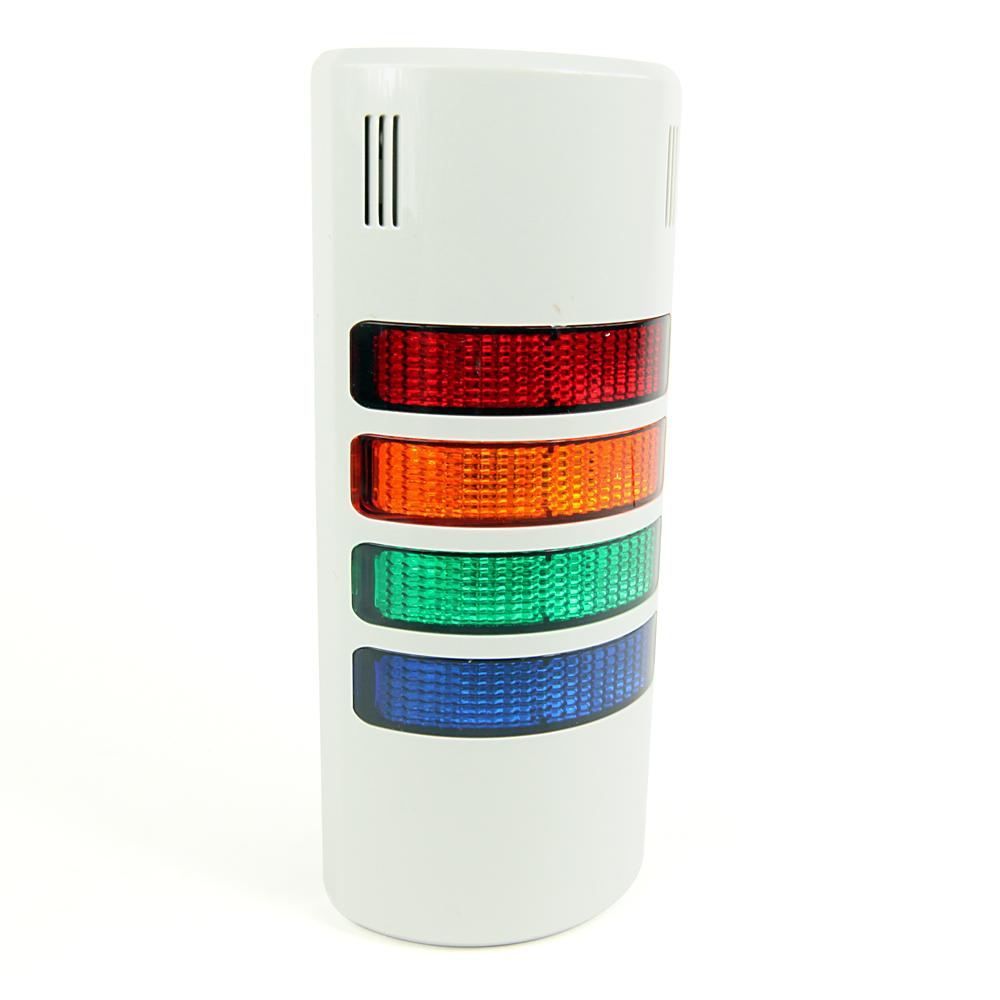 Allen Bradley 855W-G10Y6Y3Y5Y4P1 120 Volt Level 5 Red Steady LED Wall Mount Signal Light