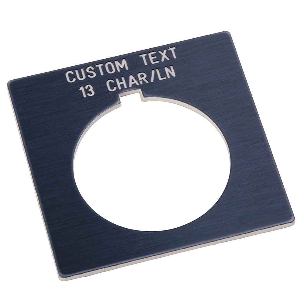 Allen Bradley 800H-W100E 30.5 mm NEMA 4/4X Gray Plastic Custom Text Standard Push Button Legend Plate