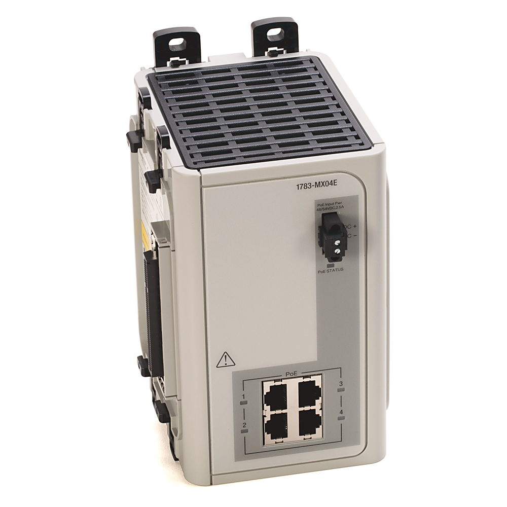 Allen Bradley 1783-MX04E Stratix 8000 Ethernet Managed Switch Expansion Module with 4-PoE Port
