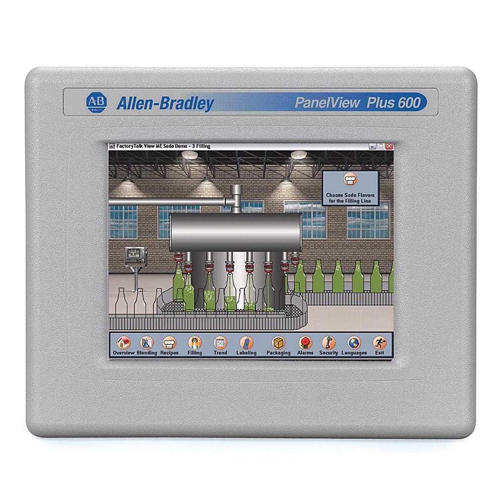Allen-Bradley 2711P-T6C20D8 Panelview Plus 6 600 Touch DC Graphic Terminal