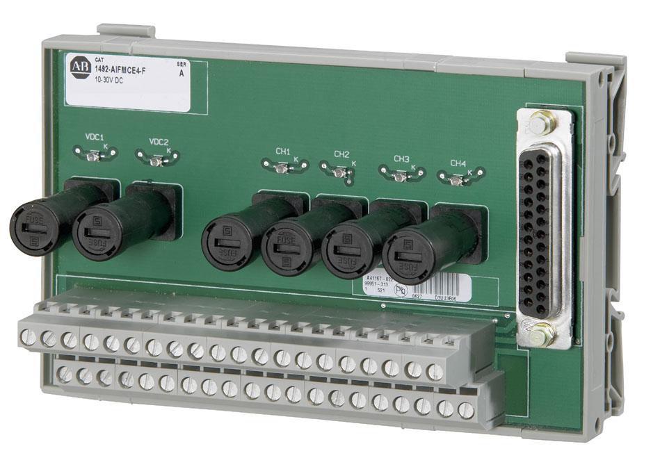 Allen-Bradley 1492-AIFMCE4-F 8 Amp 5 to 30 VDC Analog Interface Module Encoder