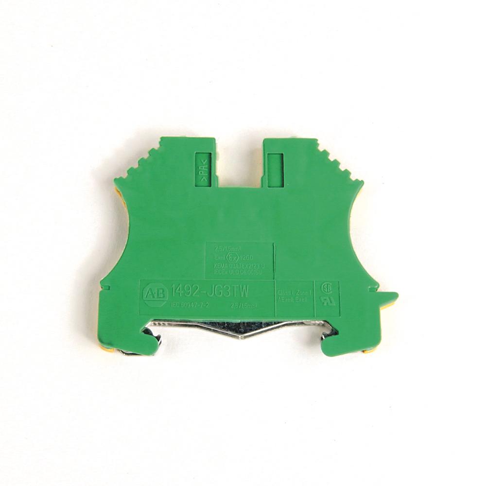 Allen-Bradley 1492-JG3TW IEC 1 Circuit 3 Connection Points Feed-Through Ground Block