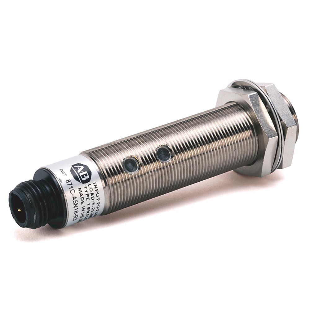 Allen-Bradley 871C-A2N12-R3 Miniature Small Barrel Inductive Sensor