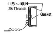 Allen-Bradley 889A-N3CAP Miniature Aluminum Sealing Cap