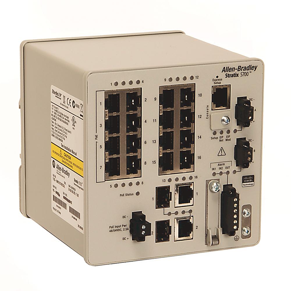 A-B 1783-BMS12T4E2CGNK Stratix 5700 18 port managed Switch