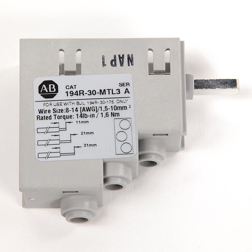Allen-Bradley 194R-30-MTL3 30 Amp 3 AWG/6 AWG Wire Multi-Tap Lug