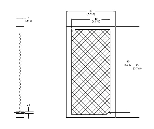 Allen Bradley 92-126 51 x 95 mm Corner Cube Photoelectric Sensor Reflector