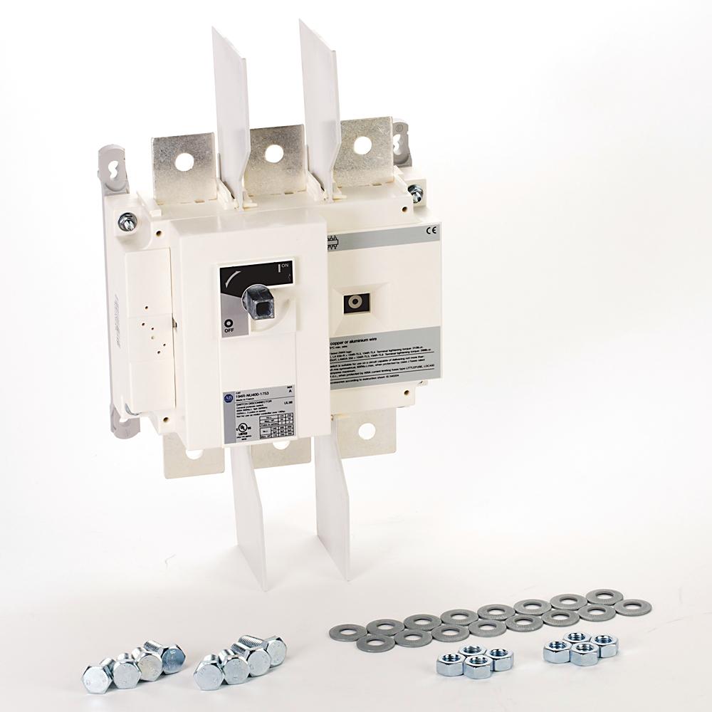 Allen Bradley 194R-NU400-1753 3-Pole 400 Amp NEMA Non-Fused Disconnect Switch