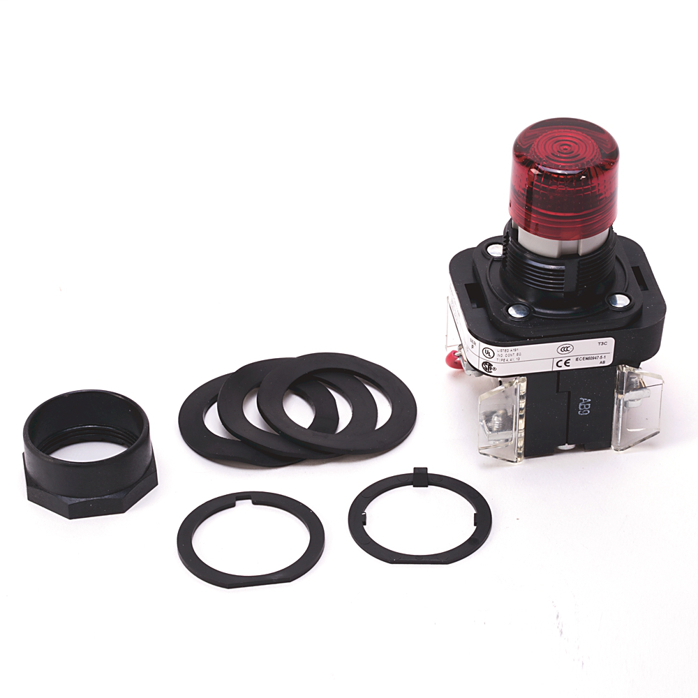Allen-Bradley 800H-QRT10RAP 30 mm Pilot Light for Push Button