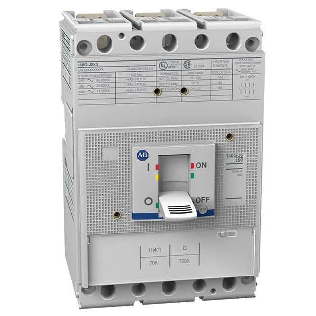 Allen Bradley 140G-J6C3-C30 250 Amp J-Frame Molded Case Circuit Breaker
