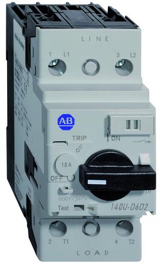 Allen Bradley 140U-D6D2-B40 UL 489 4 Amp 2-Pole Circuit Breaker