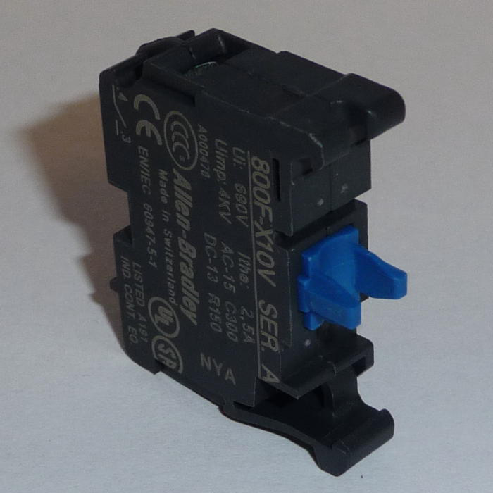 Allen Bradley 800F-MX20V 22 mm Push Button Contact Block without Operator