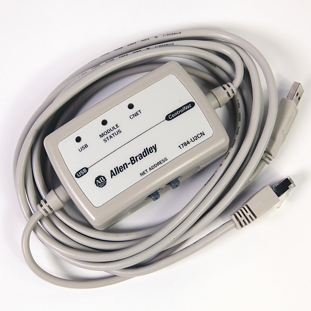 A-B 1784-U2CN CNet to PC USB Port Interface Cable