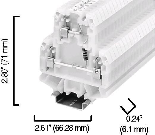 Allen-Bradley 1492-HM2V24 Terminal Block Multi-Rail Mounted LED Indicator