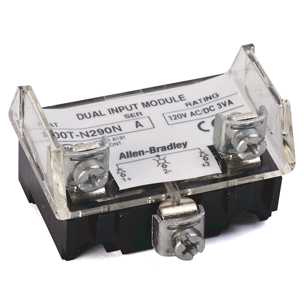 Allen-Bradley 800T-N290N 30 mm Push Button 120 Volt Dual Input Power Module