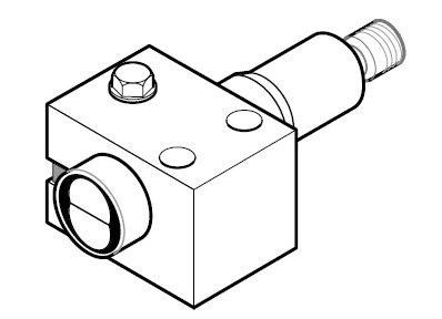 Allen Bradley 60-BCS-18B Mounting Bracket for 42JT Photoelectric Sensor
