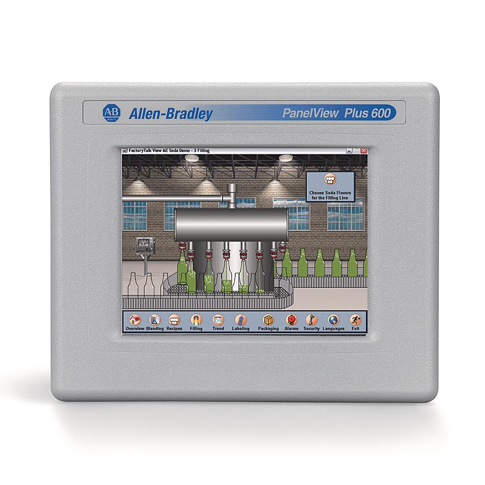 Allen-Bradley 2711PC-T6C20D8 Panelview Plus 6 600 Color Touch Terminal