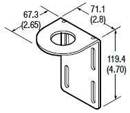 Allen-Bradley 60-2513 360 Degrees Rotation Photoelectric Sensor Mounting Bracket