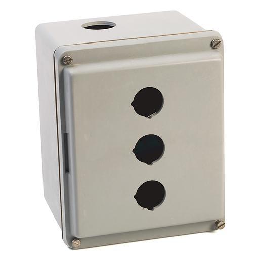 800T and 800H Accessories, Push Button Enclosure, Fiberglass, 3 Holes, Type 4/4X/12/13