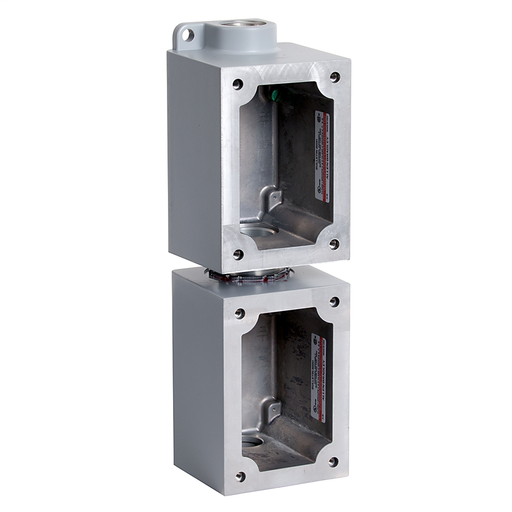 800H 7 & 9 Accessories, 2-Gang Vertical in Assembled Base, 1 in Feed Through