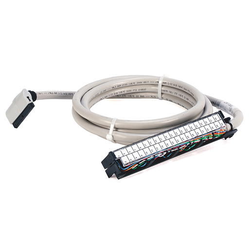 Pre-wired cable for 1771 Individually Isolated I/O Modules, 40 conductors, #22 AWG, w/1771-WN connector & IFM 40-pin connector, length 2.5 meter (8.2 feet)