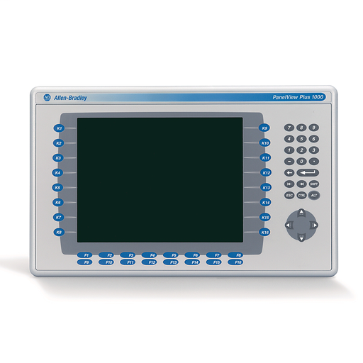 2711 PanelView Plus 6 Terminal, 1000 Model, Keypad/Touch, Color, Standard Communication - Ethernet & RS-232, DC Input, Windows CE 6.0