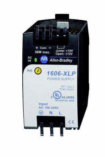 1606-XLP36C: Compact Power Supply, +/- 12/15V DC, 36 W, 120/240V AC / 85-375V DC Input Voltage