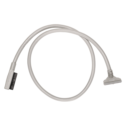 Pre-wired cable for 1746 32-pt DC I/O Modules, 40 conductors, #22 AWG, w/1746-N3 connector & IFM 40-pin connector, length 0.5 meter (1.64 feet)