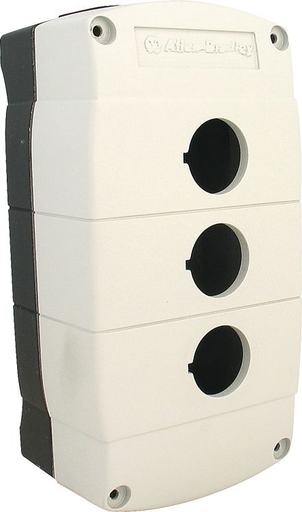 Available from RCC, 800F 1-Hole Enclosure E-Stop Station, Plastic, Metric, DC Micro, 4 Pins, Twist-to-Release 40mm, Non-Illuminated/EMO/Guard, 1 N.C.