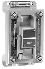 800H Assembled, Type 7&9 Hazardous Location Push Button Station. with Two Push Buttons, 2 Momentary Push Buttons Without Legend Plate, Lever Type Actuator