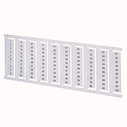 1492 Terminal Block Accessories Snap-In Individual Marker Card, 6 mm x 5 mm, No Text