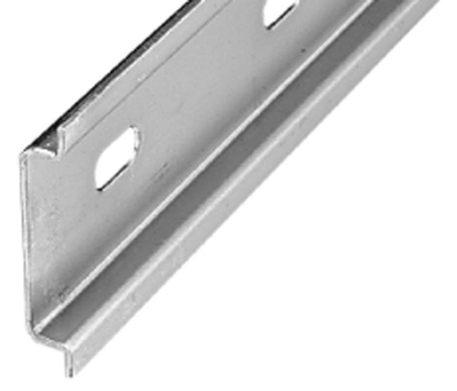 DIN Mounting Rail, Zinc Plated, Chromated Steel, 35mm x 7.5mm DIN Rail, 1 Meter (Pkg. Qty. 10)