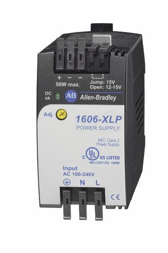 1606-XLP50B: Compact Power Supply, 12-15V DC, 50 W, 120/240V AC / 85-375V DC Input Voltage