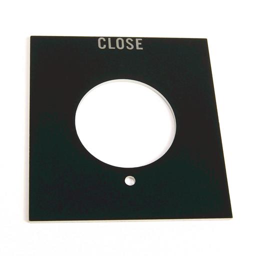 800H 7 & 9 Accessories, 800H 7 & 9 Legend Plates, Vertical, No Color Code, Standard, JOG / STOP