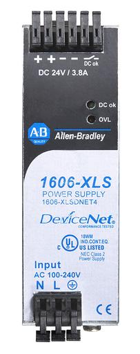 1606-XLSDNET4: Performance Power Supply (for DeviceNet), 24-48V DC, 91 W, 120/240V AC / 110-300V DC Input Voltage