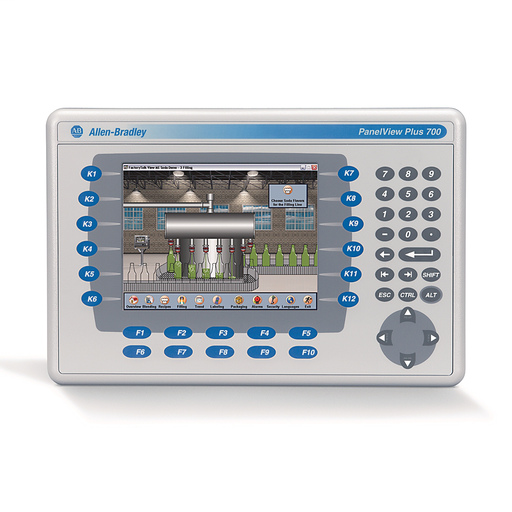 2711 PanelView Plus 6 Terminal, 700 Model, Keypad/Touch, Color, Standard Communication - Ethernet & RS-232, AC Input, Windows CE 6.0