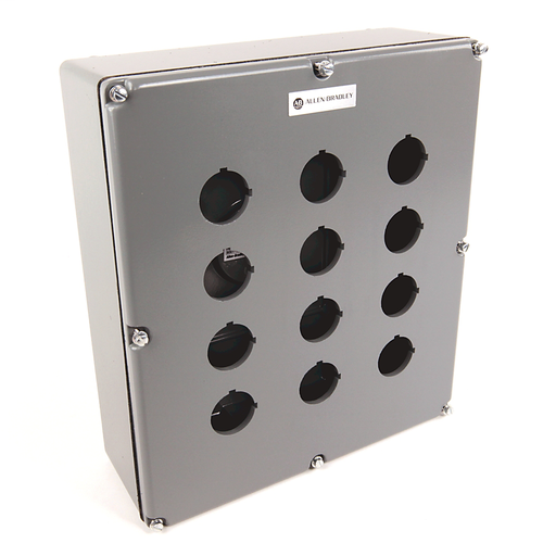 800T and 800H Accessories, Push Button Enclosure,Surface,12 Holes,Type 4/13,, Die Cast