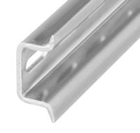 DIN Mounting Rail, Zinc Plated, Chromated Steel, 35mm x 15mm DIN Rail, 1 Meter (Pkg. Qty. 5)